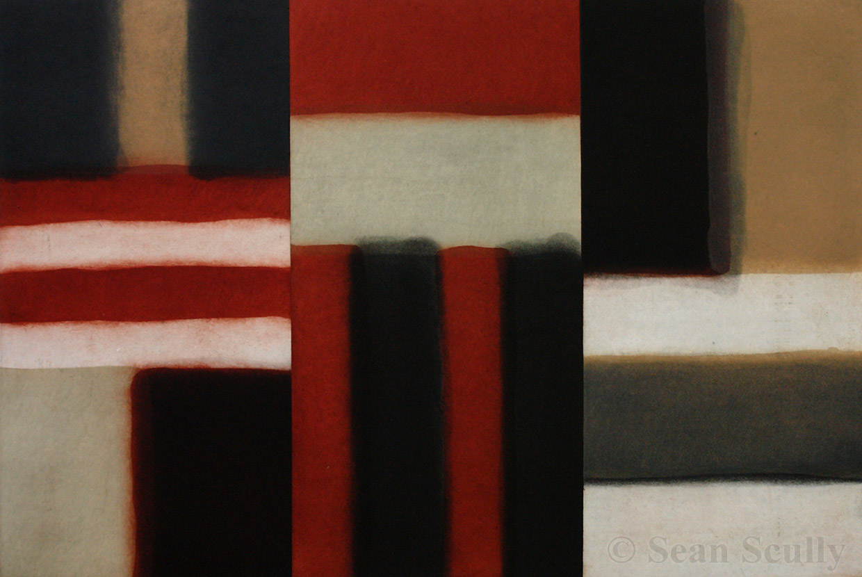Sean Scully - 'Cut Ground Red'