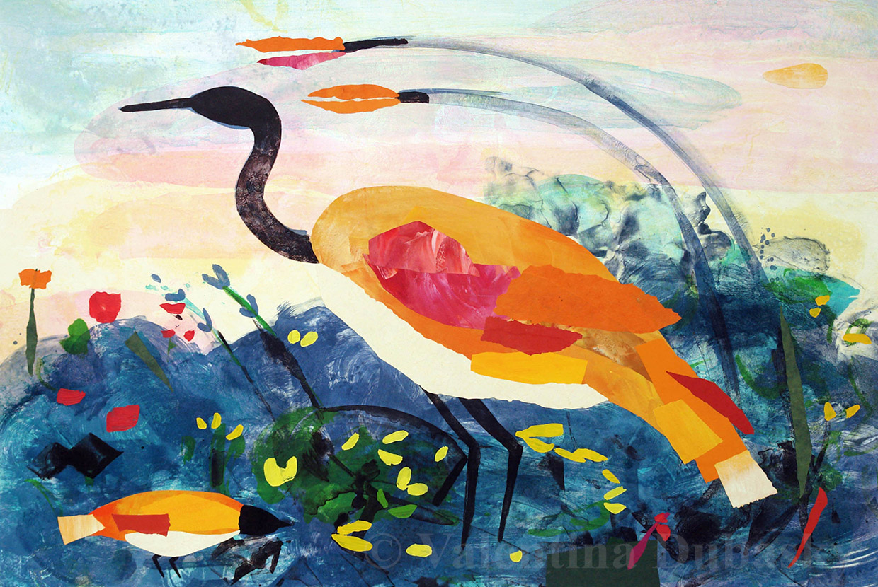 Valentina Dubasky - 'Lake Site with Amber Heron'