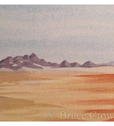 Bruce Crownover - Armagosa Valley series watercolor postcard