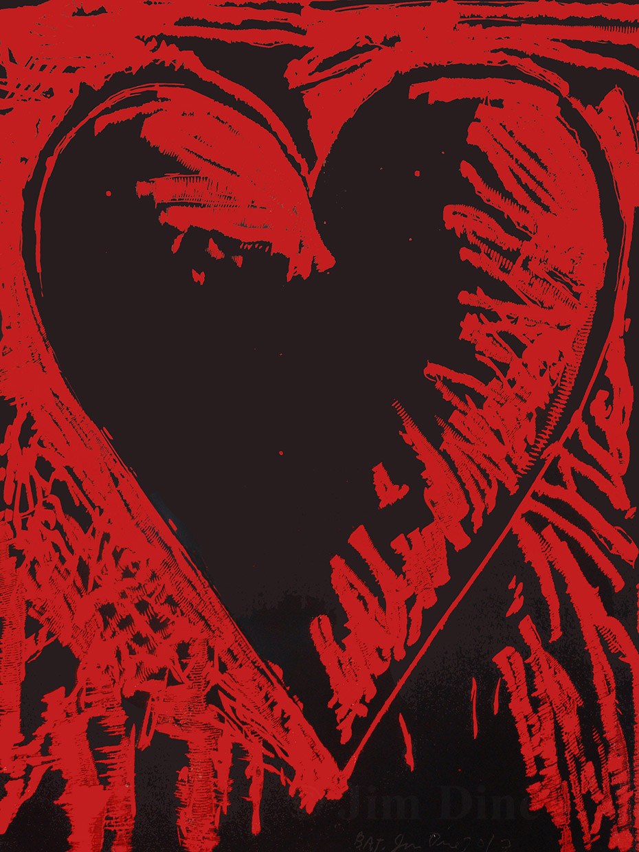 Jim Dine - 'The Black and Red Heart'