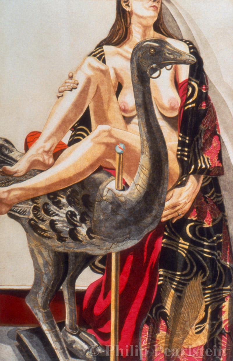 Philip Pearlstein - 'Model and Ostrich'