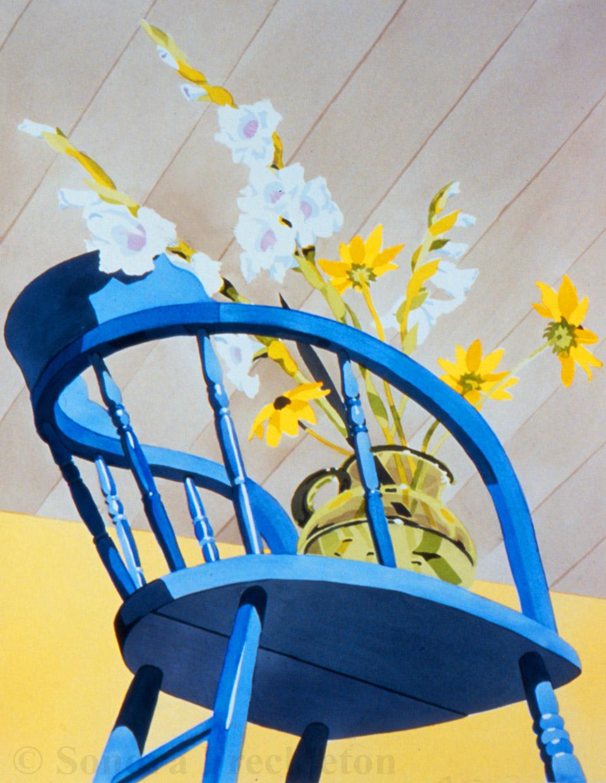 Sondra Freckleton - 'Blue Chair'