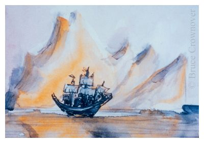 Bruce Crownover - 'Postcard 001 - Shackleton'