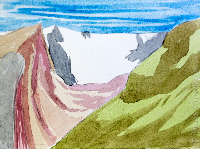 Bruce Crownover - Watercolor Postcard 02 - Rocky Mountain National Park, Colorado
