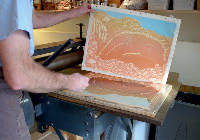 Bruce Crownover - Printmaking Process