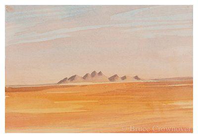Bruce Crownover Postcard - Armagosa Valley series